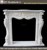 Hot Selling White Marble Stone Fireplace Antique Marble Fireplace