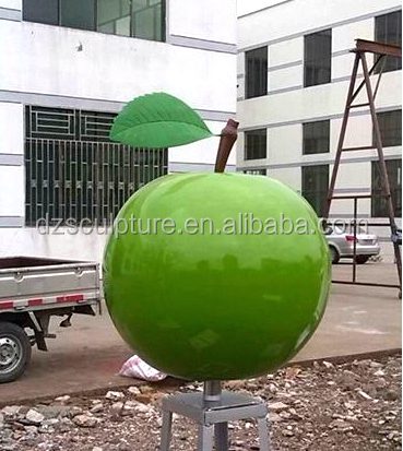Outdoor christmas green metal large decor apple for sale