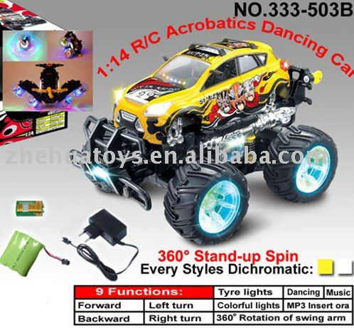 R/C toy car 10 Functions MP3 Acrobatics Dancing Car with light