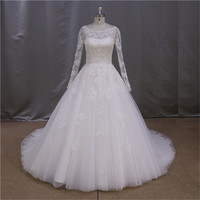 Top quality mermaid applique wedding dresses country style