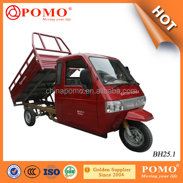 Peru Heavy Load Full Closed Driver Cabin Powerful 250CC Adult Cargo Transport Tricycle