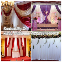 ida new hot selling wedding stage backdrop design sample for wonderful ceremony