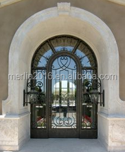 merlin fancy wrought iron entry door
