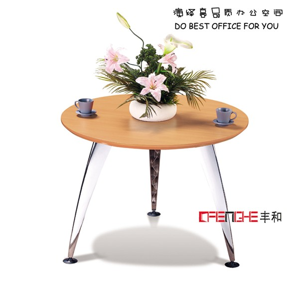 Golden Yellow aluminum alloy leg small round office conference table