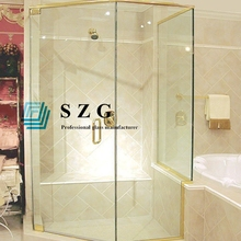 8mm Clear tempered shower glass door bathroom glass bathroom partition easy clean toughened glass clear shower room