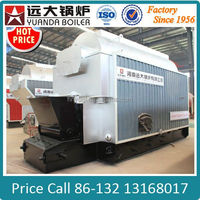 coal fired chain grate stoker 2000kg steam boiler