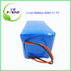 2000 cycle times rechargeable 12 v 30ah lifepo4 battery