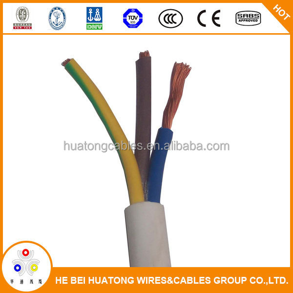 multi Cooper core RVV/BV/BVV eletrical wire flat cable made in china