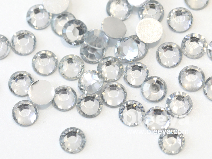 Wholesale 50 Colors Flatback Nail Art Crystals Resin Non Hot Fix Rhinestones for Round Sunglasses