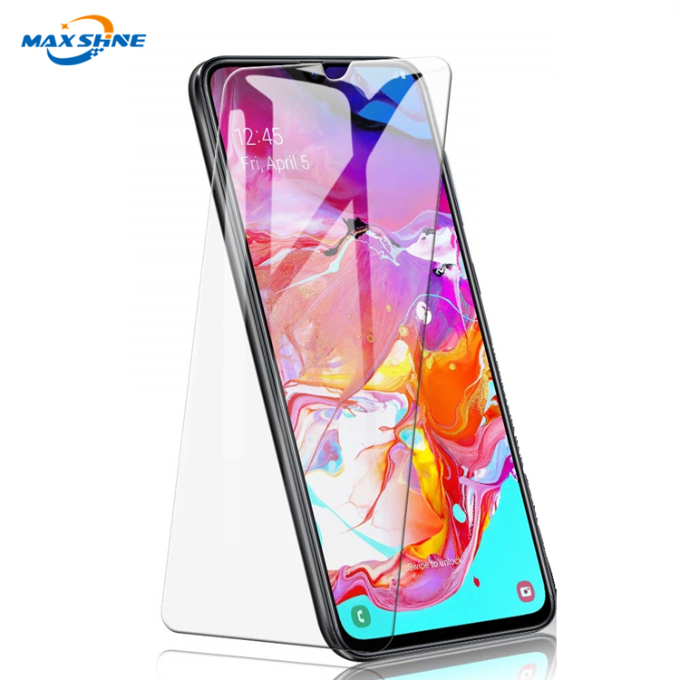 2019 Factory Guangzhou 2.5D 9H Cell Phone Tempered Glass Screen Protector For Samsung A70 Screen Guard Protector