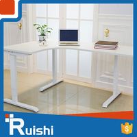 Electric Height Monitor Wholesale Eco-Friendly Italy Market Workstation Desk Office Furniture For 3 Person