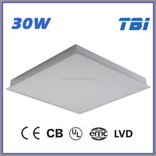 600*600 3000K LED panel light CE CB UL EMC LVD t5 fluorescent light fixture 4 foot led light fixture fluorescent office ceiling