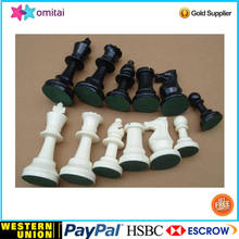 Tournament Size Chess Set & Board With King Tall 3 3/4'' And 20''X20'' Board