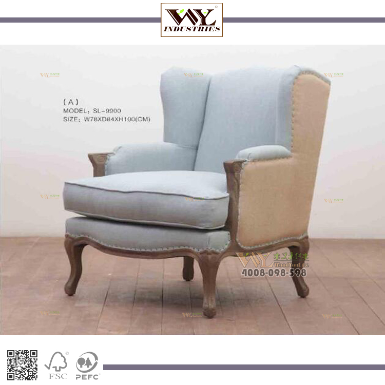 Fashionable Fabric Sofa American Single Seater Living Room Sofa <strong>Chairs</strong>