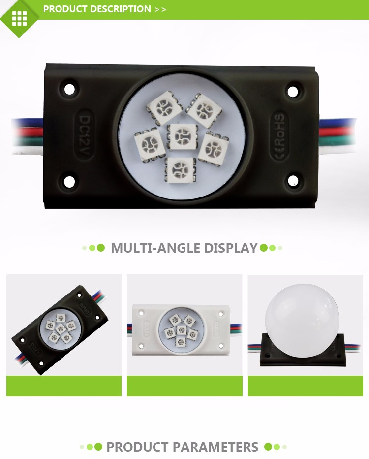 5050 RGB color led bulb module with epoxy