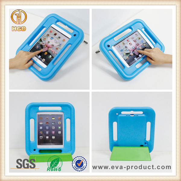 Made in China factory price rubber shock kids proof tablet case for ipad mini with handle