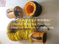 waterproof and compressivble flame retardant PVC HVAC system insulated spiral duct