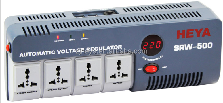 220VAC 500VA 1000VA 1500VA Socket single phase voltage stabilizer for home/pc/office