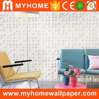 Waterproof pvc wall coating type 3D acoustic diffuser wall panel hot selling