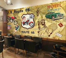 Retro Style wall Murals wallpapers living room wallpaper or restaurant