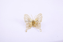 High quality gold glitter artificial butterfly flowers for decoration