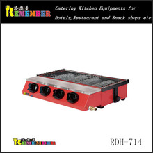 2016 new type high quality commercial power save table top gas Barbecue Oven / BBQ grill RDH-714
