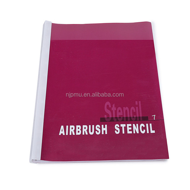 Body and face sticker for reusable airbrush spray stencil book
