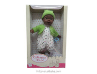 China Supply 13 inch black boy baby doll toys with hat