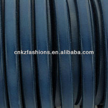 Navy Leather Cord - Licorice Leather 10x6mm for making thick leather bracelets - 8 inch/20cm piece