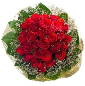 30 red roses bouquet
