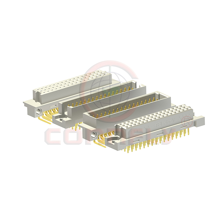 UL CE FCC approval high quality 3 rows right angle type male din 41612 connector