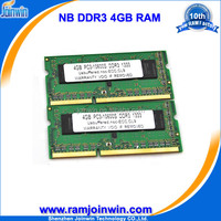 Cheap computer parts 256mb*8 ram memory ddr3 4gb laptop