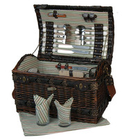 Deluxe Antique 4 Person Wicker Picnic Basket Wholesale Easter Baskets
