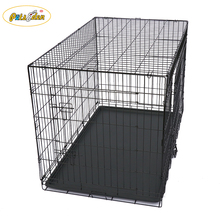 "30"" Double Door Folding Metal Dog Crate Pet Cage"