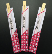 High quality twins 21cm disposable bamboo chopsticks with paper sleeve for sale