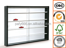 The wall cube shelf with Glass sliding door 5 layer