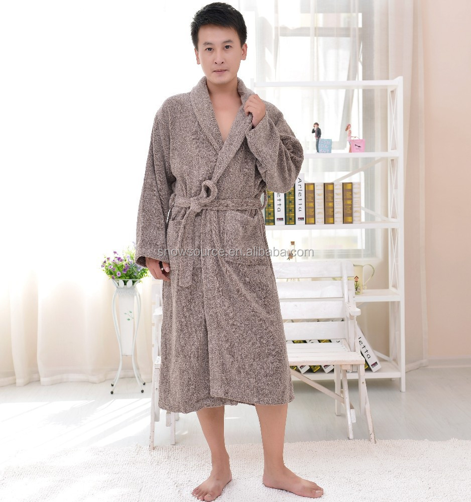 Thick cotton luxury towelling cotton chenille robes