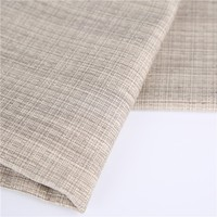 Decorative Linen Look Acrylic Foam Back Coated Blackout Fabrics for Window Covering