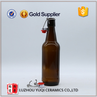High quality cheap price clip top amber beer bottle 12 oz