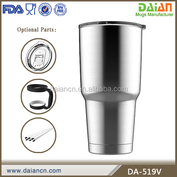 Wholesale 30 oz Double Wall 18 /8 Stainless Steel Insulated Vacuum Straw Tumbler for Hot and Cold Drinks