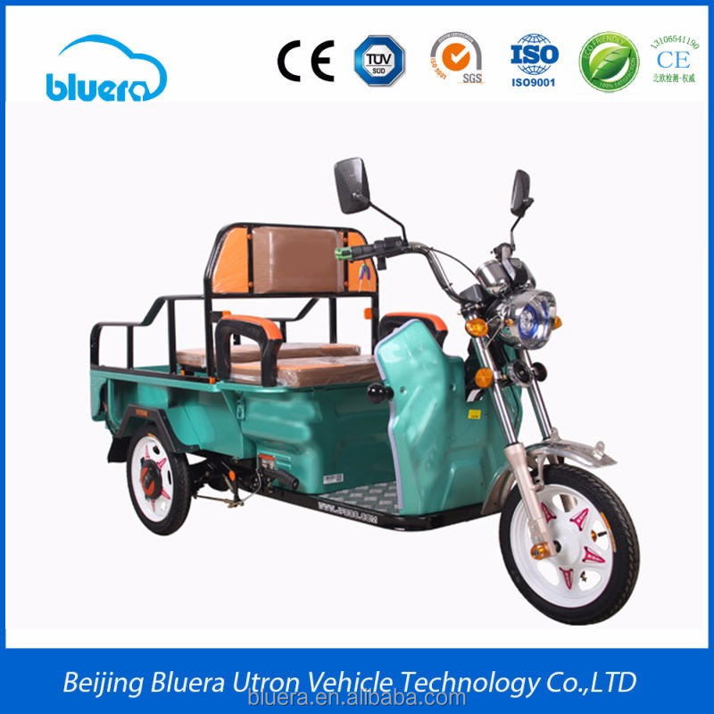 Bluerebike Camel T2 500~2000W Motor 48V-60V 20AH-100AH lead-acid battery 3 wheel electric tricycle for adults