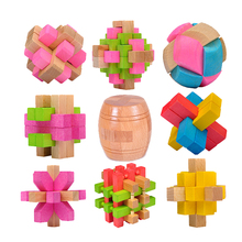 For sale kindergarten smart colourful train toys 3d wooden educational Brain Teaser puzzle for kids
