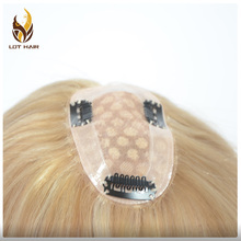 Wholesale 100% European Virgin Silk Top Human Hair Topper for women