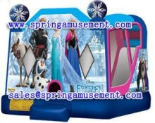 Classic inflatable frozen bouncer with slide SP-C4004
