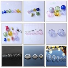 8mm 6mm 4 10mm 20mm 30mm 35mm - Globe- Bubbles- Cover- Half & Round& Teardrop dome - Hollow hanging christmas clear glass ball