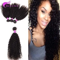 Good Hair Peruvian Jerry Curl Weave Extensions Human Hair 4pcs/lot Free Shipping