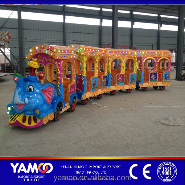 Alibaba top quality mechanical rides buy theme park rides elephant train/ amusement park facilities for sale