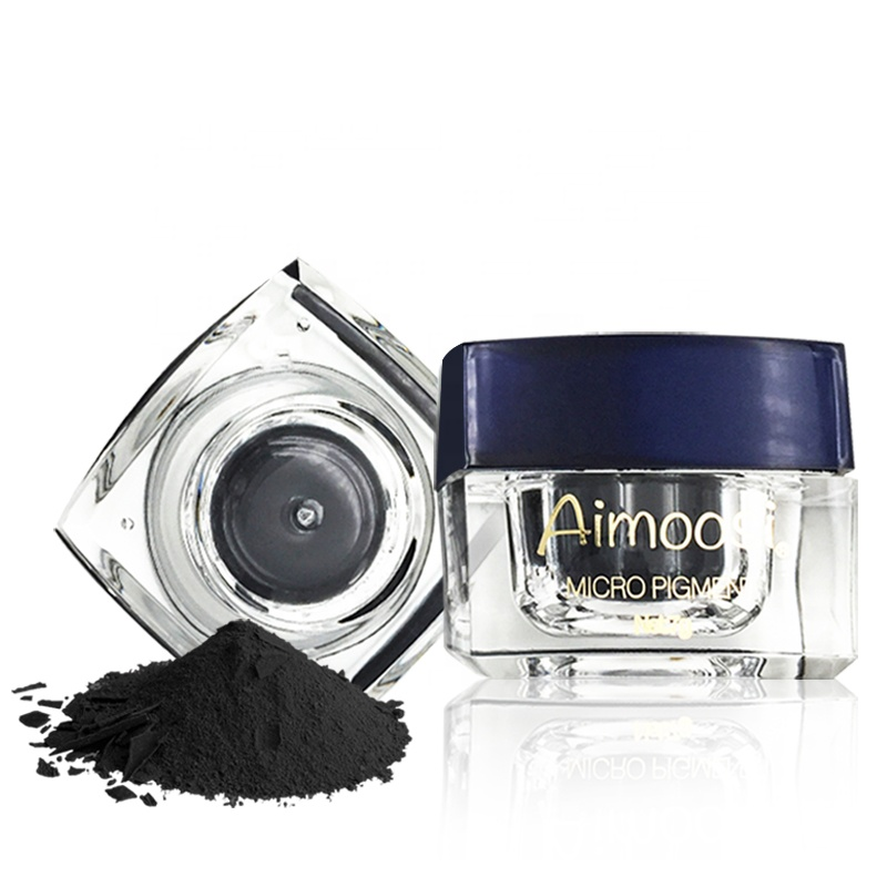 Aimoosi Black Powder Pigment Microblading Powder Color For Permanent Makeup Eyeliner