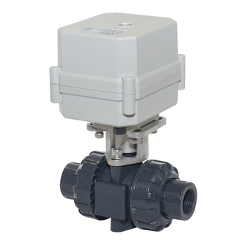 2-way PVC inserting electric water ball valve for autom control