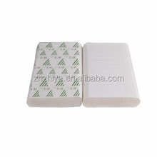 biodegradable paper towel 1ply 40gsm virgin white color 200 pcs/pack 4000pcs/carton